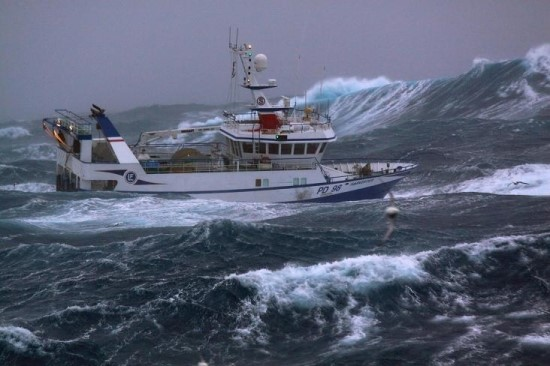 Ships Caught in rough seas of New Zealand
