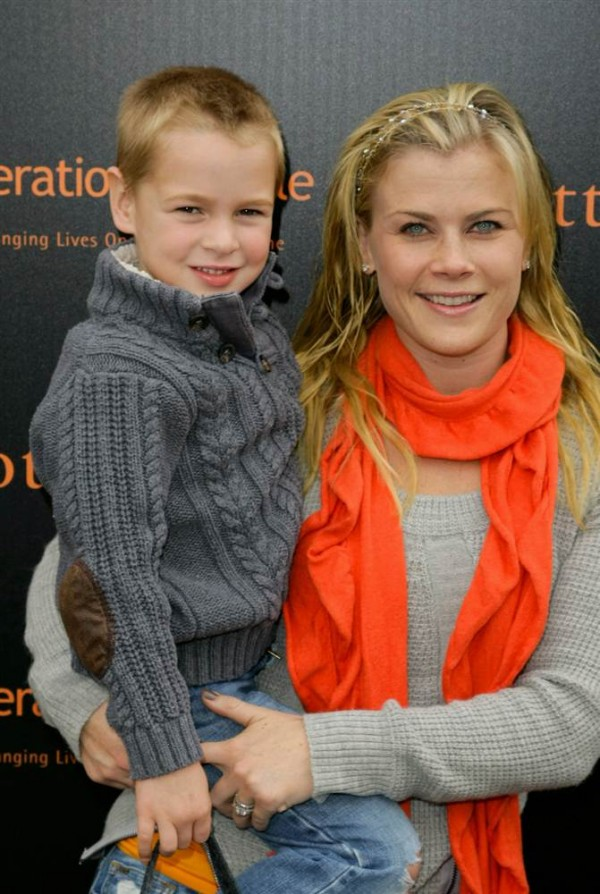 Alison Sweeney with her child