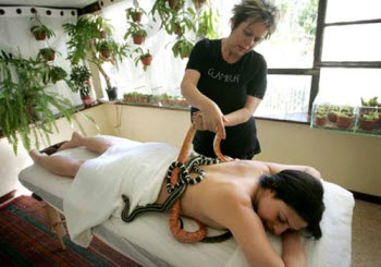 Snake-massage