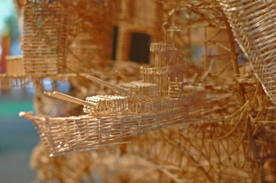 Toothpick Sculptures by Scott Weaver