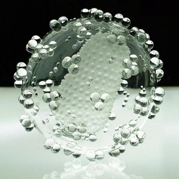 Glass Bacteria-Virus by Luke Jerram