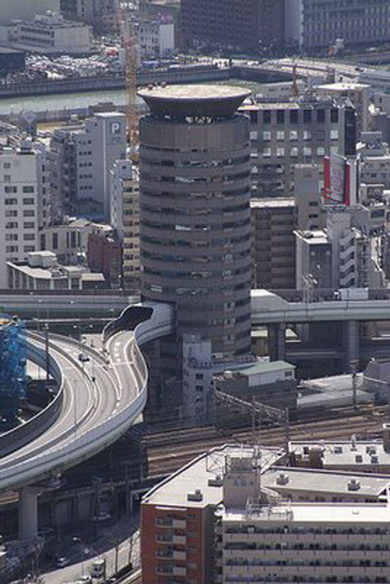 Highway through Gate Tower Building, Japan
