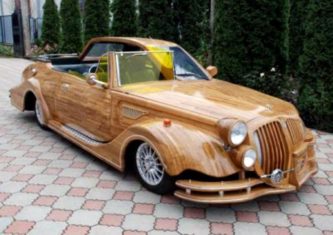 Car made of wood