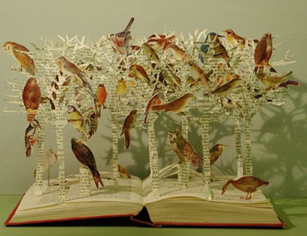 Book Carving Art by Su Blackwell