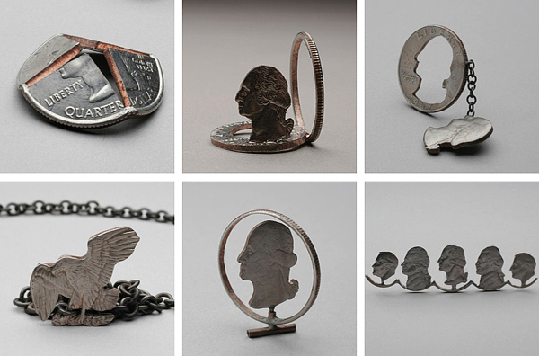 Stacey Lee Webber Coin Sculptures