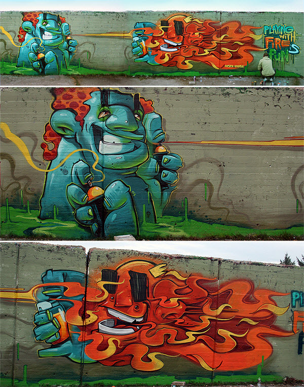 Creative Wall Graffiti art