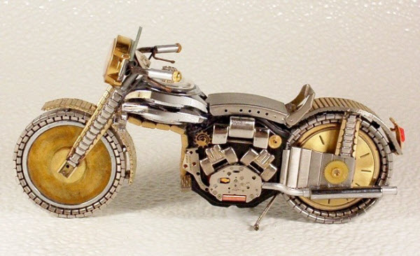 Tiny Motorbikes using Watches