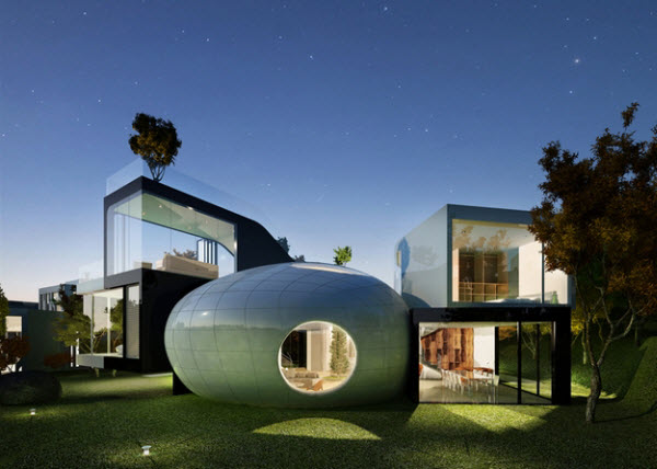 Cocoon House at UNESCO Heritage Site by Planning Korea in Korea
