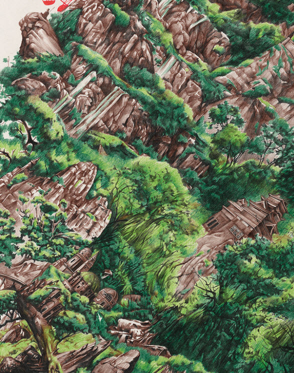 Colored Pencil art – Tilt City by Na Zhao from Beijing, China