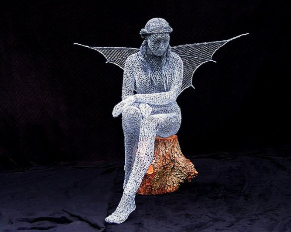 Stunning Wire Sculptures by Derek Kinzett from United Kingdom