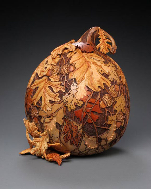 Gourd Carving Art by Marilyn Sunderland from Columbia