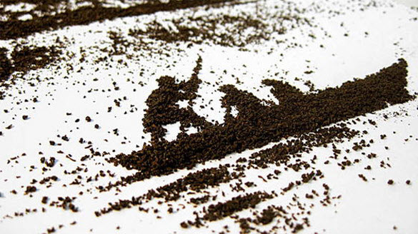 Amazing Art using Tea Powder by Andrew Gorkovenko from Moscow