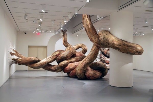 Wooden Sculptures by Henrique Oliveira from Sao Paulo, Brazil