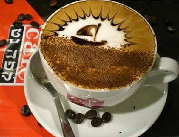 Spectacular Latte Art work by Barista