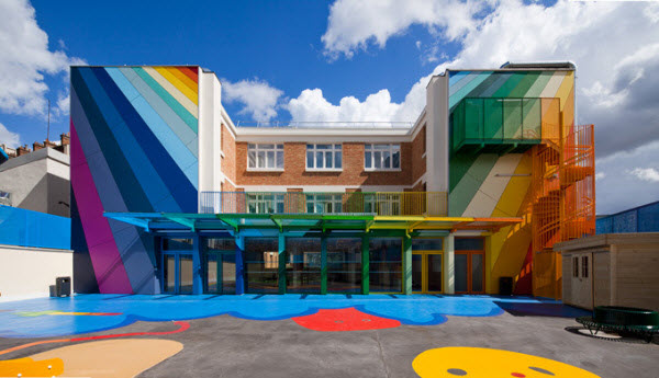 Rainbow Design Ecole Maternelle Pajol Kindergarten in Paris