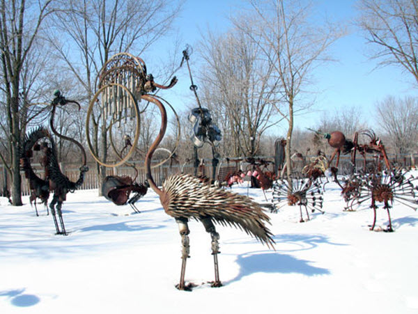 Scrap Metal Sculpture Park by Dr. Evermor from Brooklyn