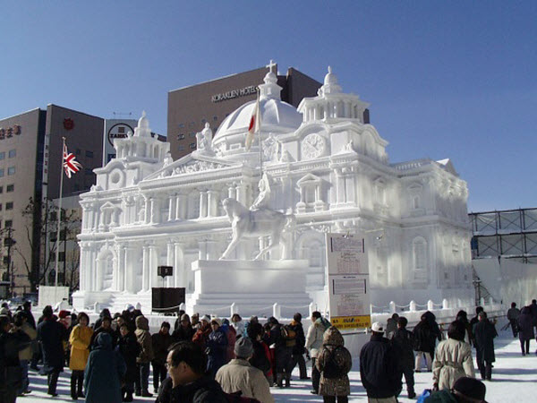 Gigantic Snow Sculptures at Harbin, China.