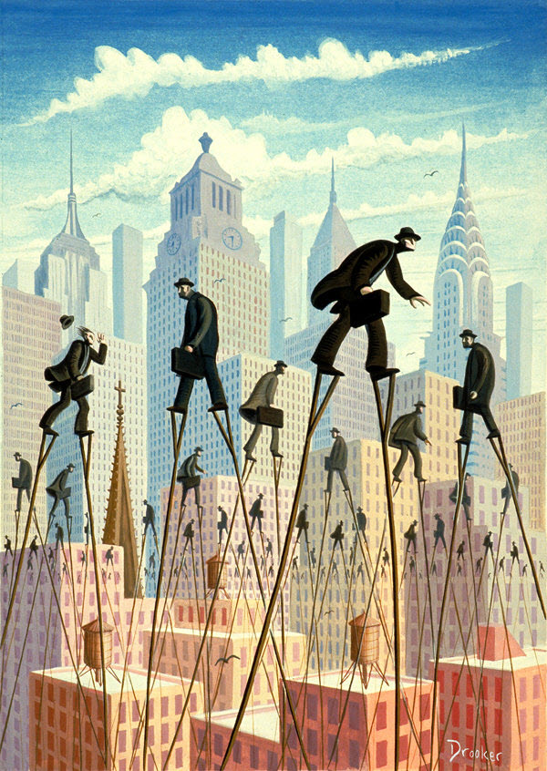 Paintings by Eric Drooker from Manhattan Island