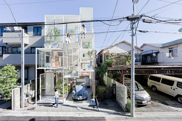 Transparent Glass 'House NA'  in Tokyo, Japan