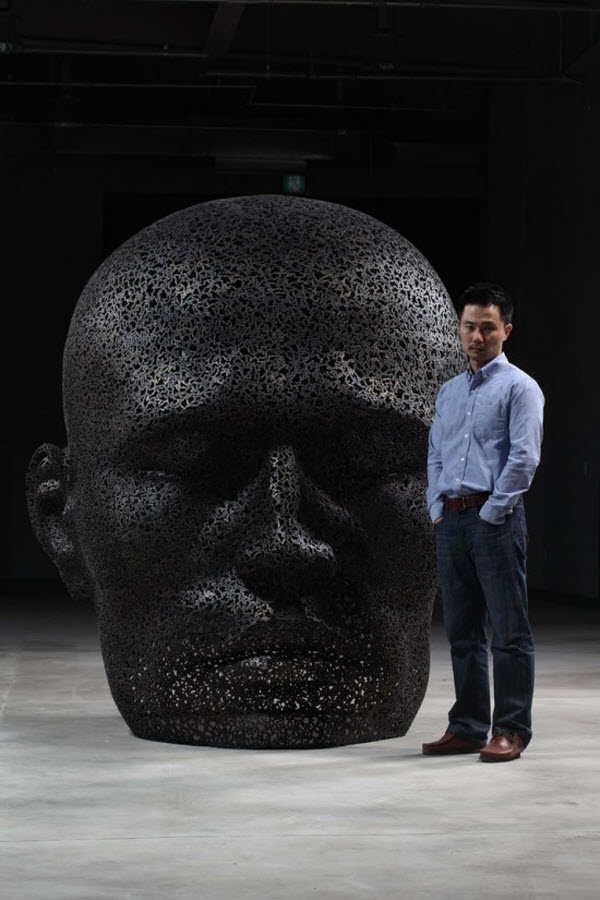 Bicycle Chain Sculptures by Seo Young Deok from Korea