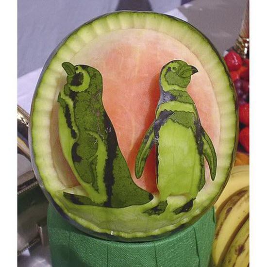 Watermelon Carving Art by Takashi from Japan