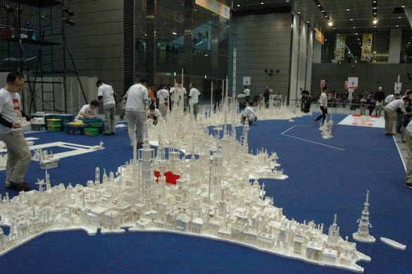 Remarkable Lego Map of Japan by Children in Tokyo.