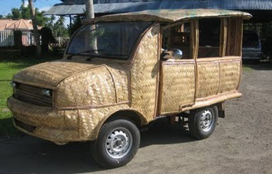Bamboo decorated Taxi, Philippines