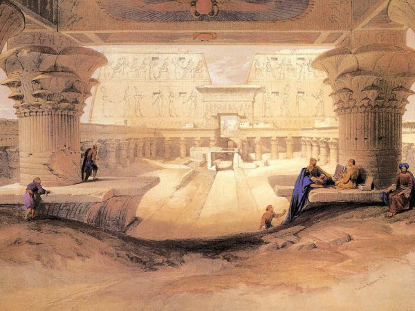 Ancient Egyptian Paintings by David Roberts from Scotland