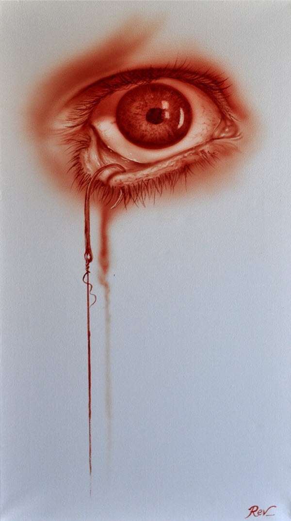 Blood Paintings by Rev Mayers from Australia