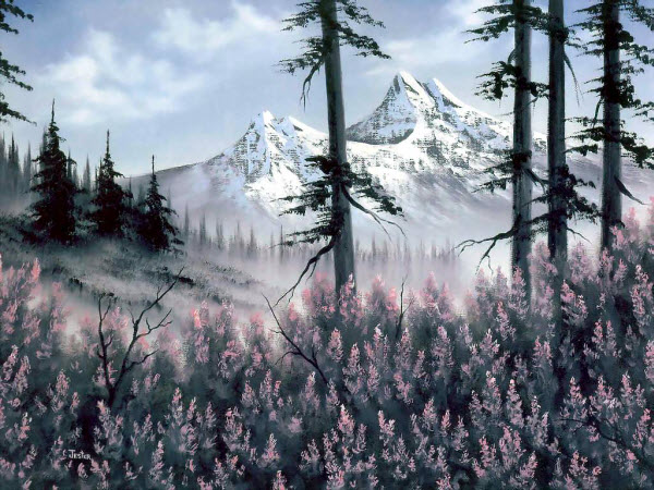 Landscape Paintings by Bob Ross from America