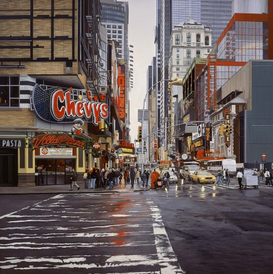 Photo-realistic Cityscape Paintings by Nathan Walsh from London