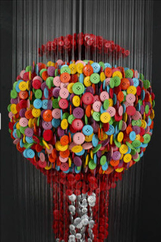 Button Sculptures by Augusto Esquivel