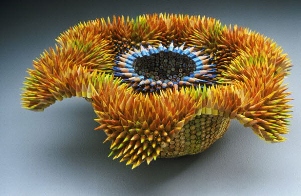 Pencil sculptures by Jennifer Maestre