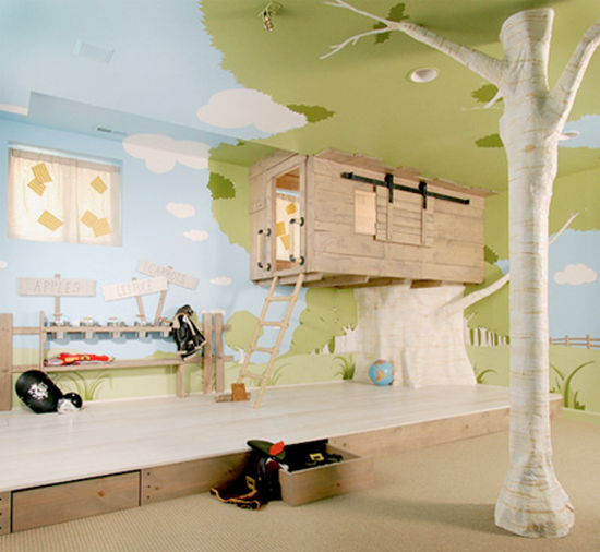 Tree House Bedroom design