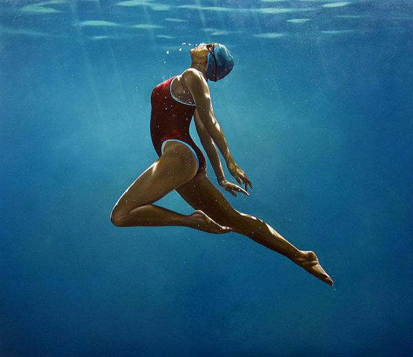 Underwater paintings by Eric Zener