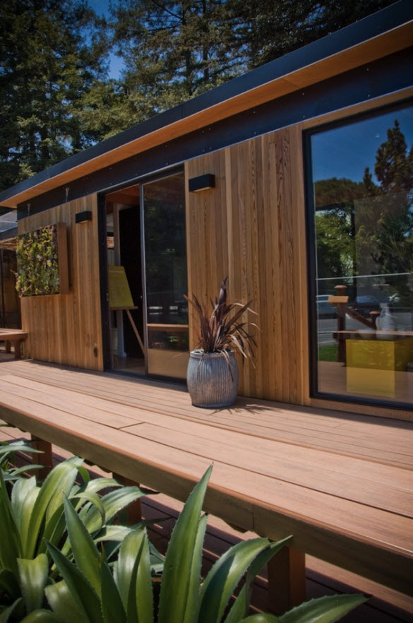 Prefabricated Sustainable Studio House by Modern Cabanas from California