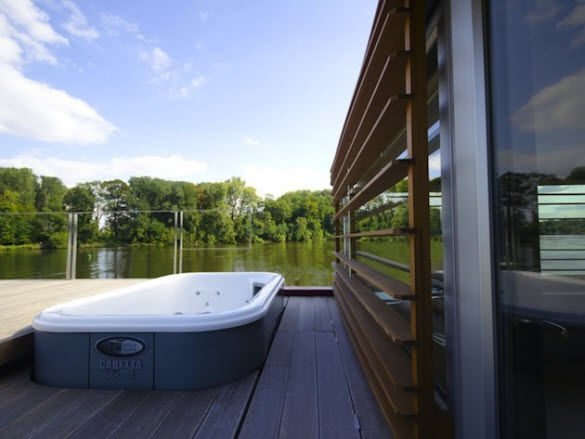 SayBoat Floating House by Milan Ridky in Czech Republic