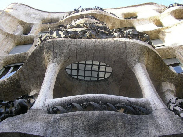 Spectacular La Pedrera, Casa Mila in Barcelona, Spain